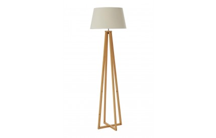 Breton Floor Lamp Wood / Fabric Shade