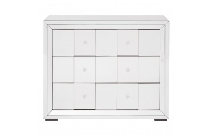 Medina Cabinet 3 Drawer MDF  Mirrored Glass