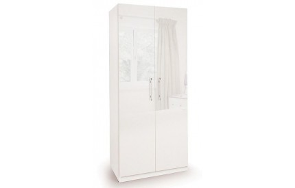 Charms High Gloss 2 Door Wardrobe