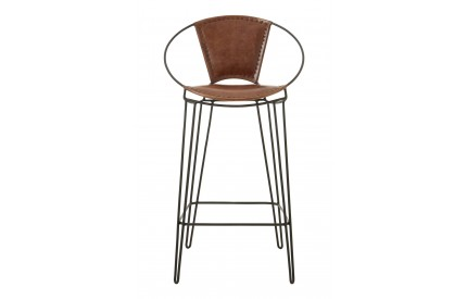 Bullworth Chair Brown Leather Iron