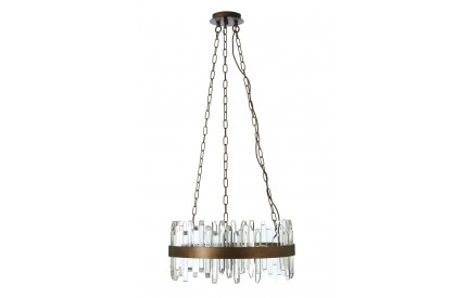Acrylic Chandelier Antique Copper Finish