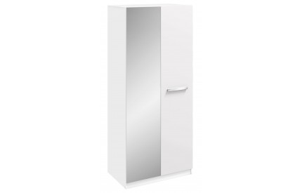 Span 2 Door Mirrored Wardrobe High Gloss White
