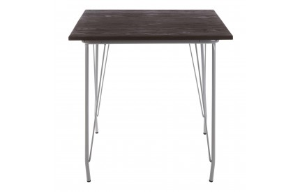 Precinct Table Grey Metal and Elm Wood