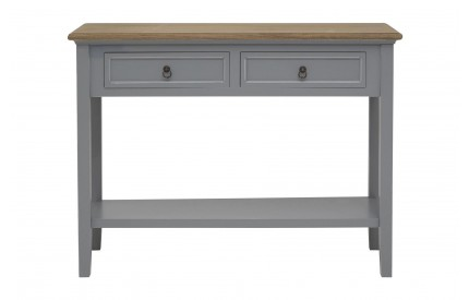 Henley Console Table Antique Grey Paulownia Wood