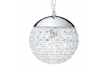Buckingham Townhouse Pendant Light Crystal/Chrome