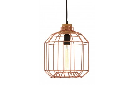 Beacan Pendant Light Metal Wire Copper