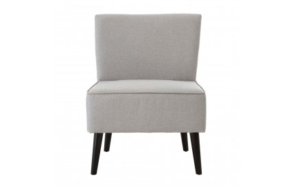 Greece Chair Grey Linen Black Rubberwood Legs
