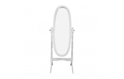 White Oval Cheval Mirror