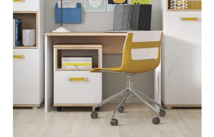 4KIDS Desk Oak High Gloss White