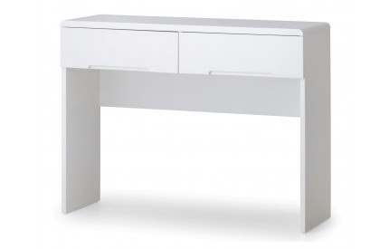 Manhattan High Gloss White Dressing Table 2 Drawers