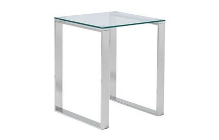 Muster Glass Lamp Table Stainless Steel Legs