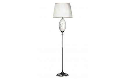 Maisy Floor Lamp Ceramic/Crystal Detail Fabric Shade