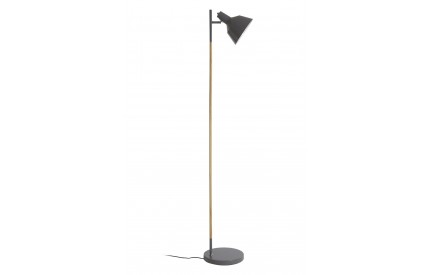 Ryan Floor Lamp Wood / Metal Grey