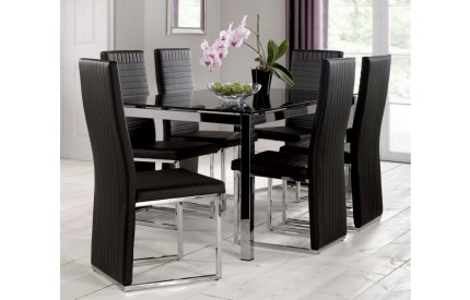 Tempo Glass Dining Table & Chairs