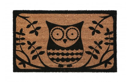 Owl Doormat PVC Backed Coir