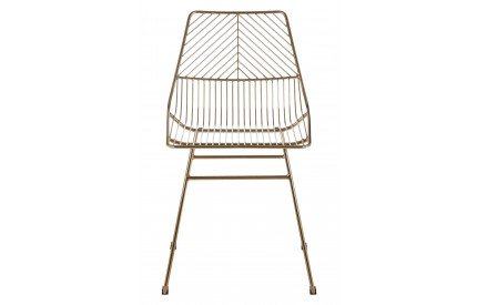 Precinct Wire Chair Gold Metal