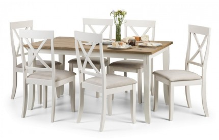Davenport Oak White Dining Set