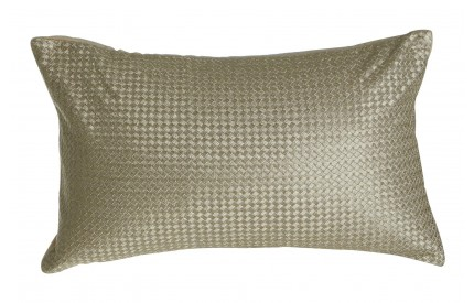 Buckingham Townhouse Cushion Metallic Waffle Gold