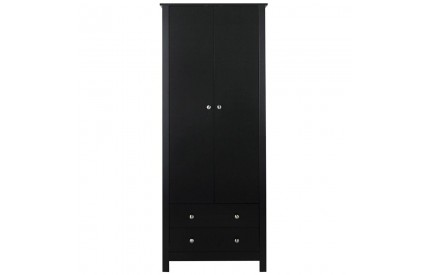 Florence 2 Door 2 Drawer Wardrobe Black