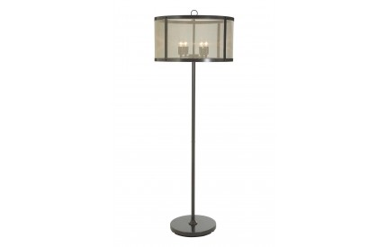 Sherlock Floor Lamp Iron / Gauze Antique Black / Gold Finish