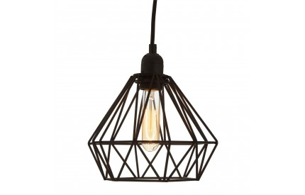 Bartol Pendant Light Metal Wire Black
