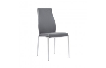 Set of 2 Milan High Back Chair Grey