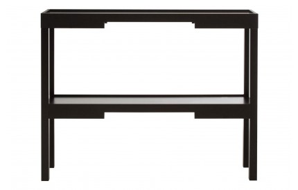 Osaka Console Table Black MDF With Shelf