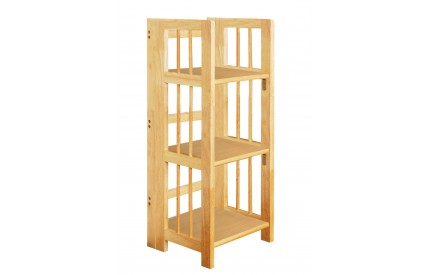 Tropical Hevea Wood Folding Shelf Unit 3 Tier