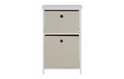 Lindo Cabinet 2 Natural Fabric Drawers