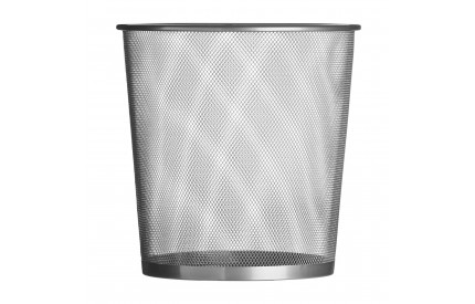 Waste Paper Bin Silver Wire Mesh Small