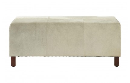 Buckingham Townhouse Bench Genuine Leather Wood Legs