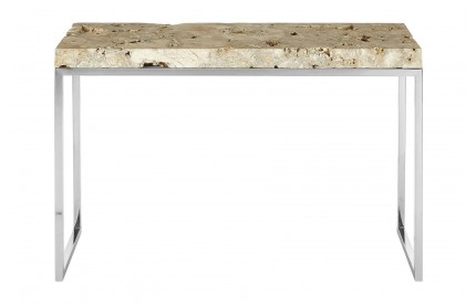 Newcity Console Table Cheese Stone Stainless Steel Base