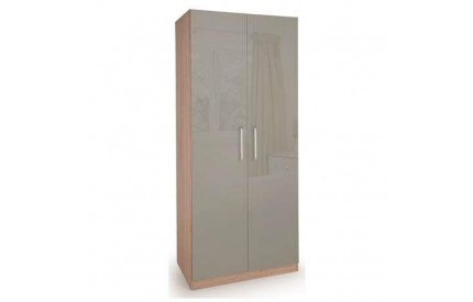 Rosemary High Gloss 2 Door Wardrobe