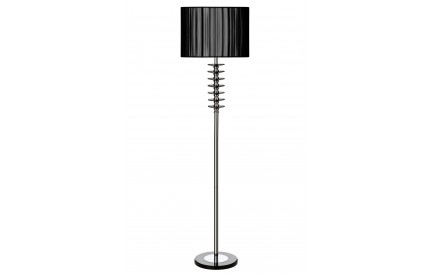 Hoop Floor Lamp Metal/Crystal Base Fabric/PVC Shade