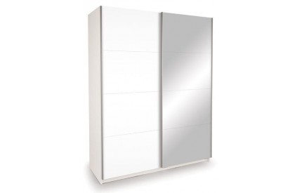 Vermont White Slider Mirror + High Gloss White Doors
