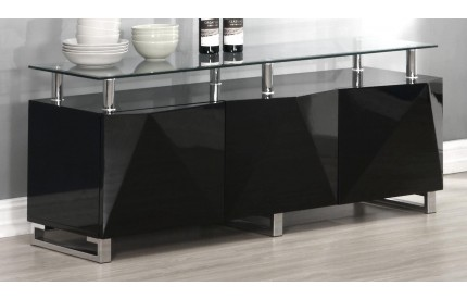 Regis Black High Gloss Sideboard 3 Doors