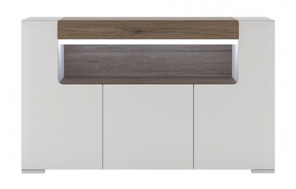 Toronto 3 Door Sideboard High Gloss White