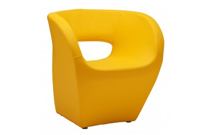 Ardo Chair Yellow Leather Effect