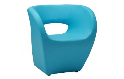 Ardo Chair Blue Leather Effect