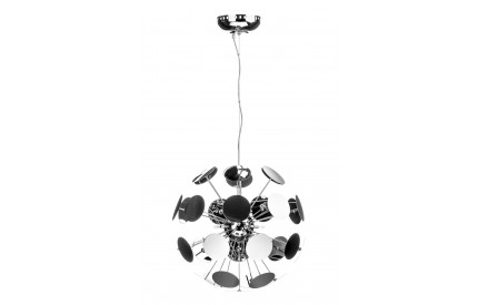 Disc Pendant Light Chrome