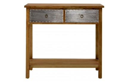 Shoreditch Console Table Fir Wood Legs Aluminium Decoration