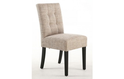 Moseley Stitched Waffle Back Tweed Oatmeal Dining Chair