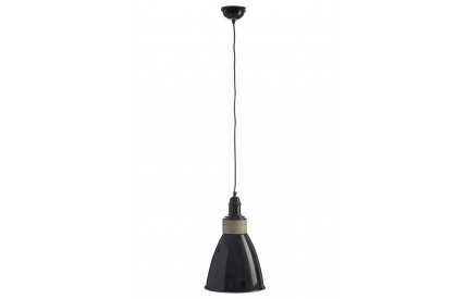 Norway Pendant Light Iron / Wood Black