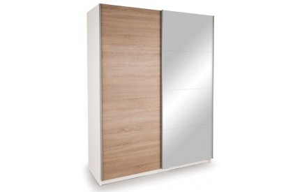 Vermont White Slider 1 Mirror + 1 Oak