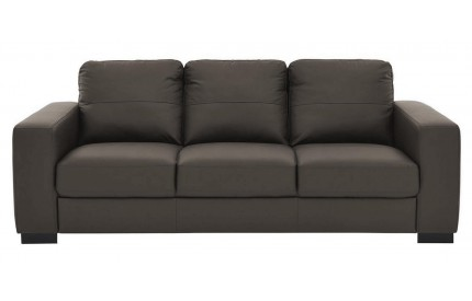 Lena Leather 3 Seater Brown