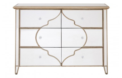 Medina Cabinet 6 Drawer Mirrored
