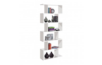 Pacific Bookcase Tall High Shine White