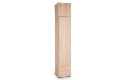 Osborn Plus Oak 1 Door 2 Drawer Wardrobe