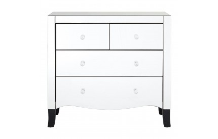 Graciela 4 Drawer Chest Mirrored