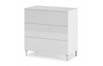 Pacific Chest 3 Drawer High Shine White